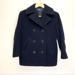 Polo by Ralph Lauren Boys Pea Coat Size 140